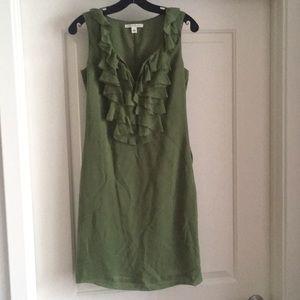 100% Silk Green Banana Republic Dress Sz 0